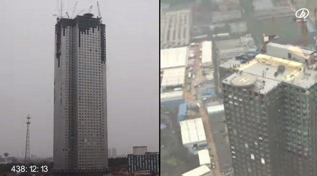 Muestran cómo se construye un rascacielos de 57 pisos - rascacielo