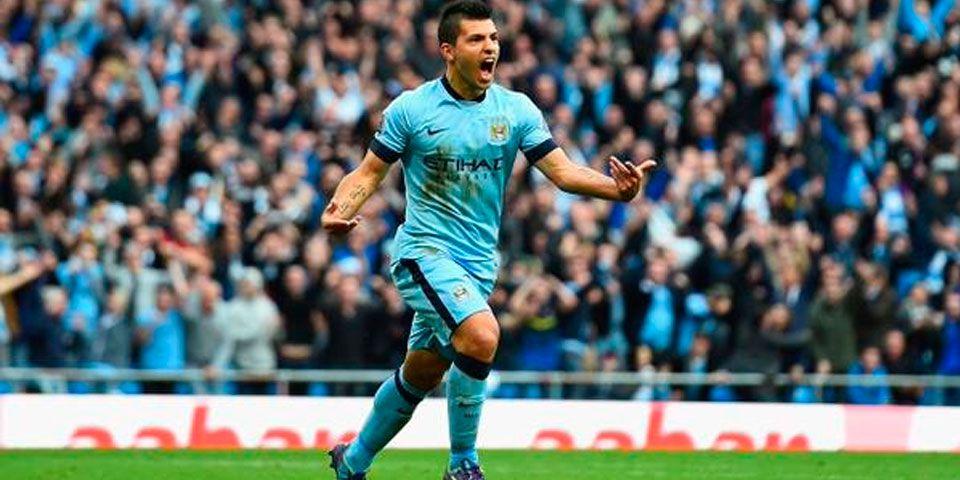 Manchester City vuelve a ganar - Sergio Agüero en la victoria del Manchester City ante el West Ham