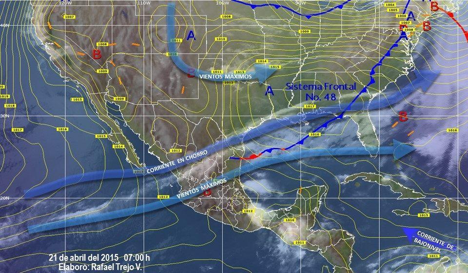 Lluvias y granizo afectarán a 14 entidades del país - clima