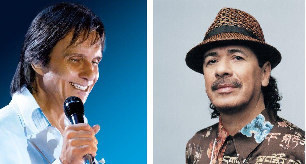 Roberto Carlos y Santana serán honrados en Premios Billboard - santana y roberto carlos