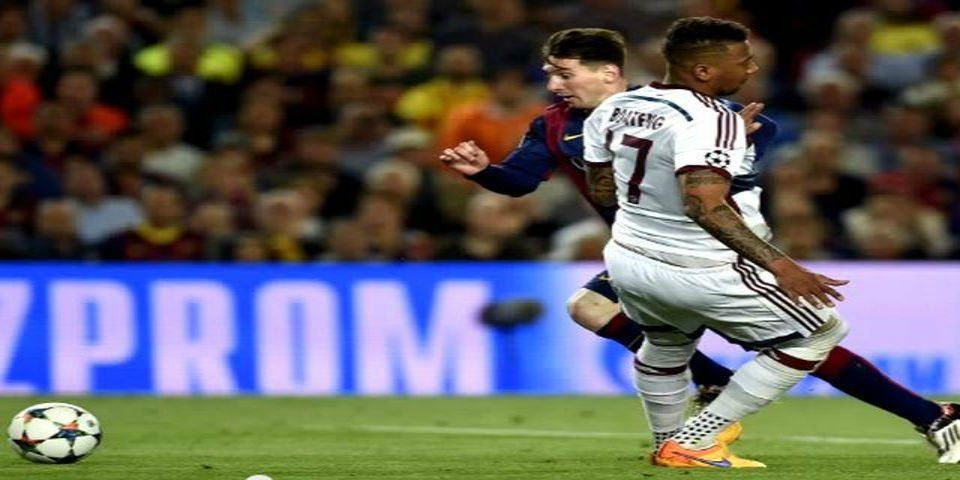 Jerome Boateng y Lionel Messi