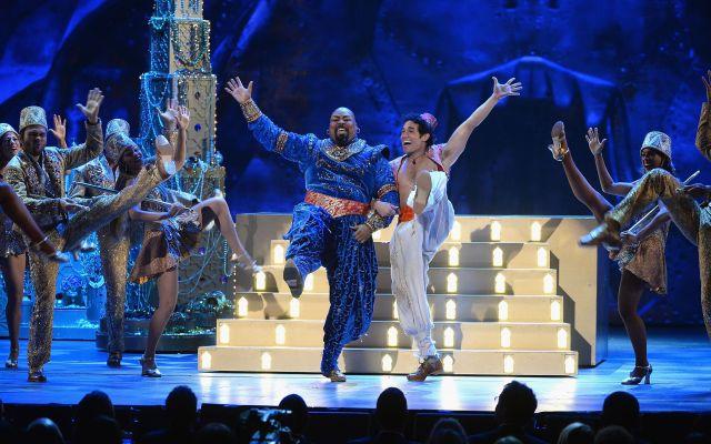 Obra de Aladdin en Broadway. Getty Images