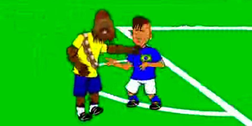 Video: animación parodia pleito entre Neymar y Bacca - Foto de Youtube