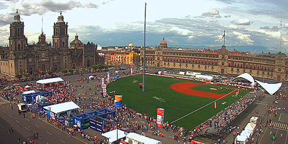 Así se vivió el Home Run Derby en el Zócalo - Foto de @webcamsdemexico