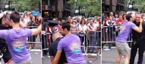 Policía celebra bailando en marcha gay - Foto de Facebook