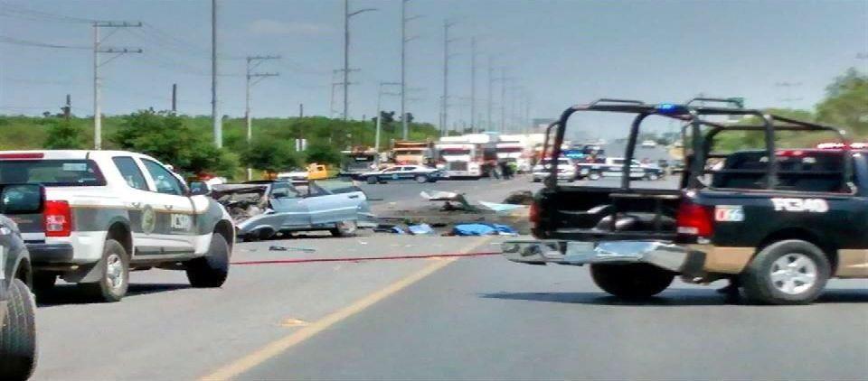Choque en carretera de NL deja 3 muertos - Foto de Reforma