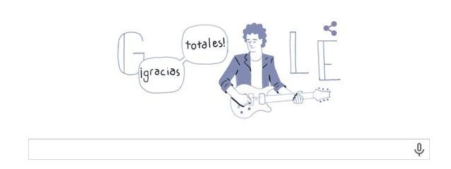 Google celebra el cumpleaños 56 de Cerati