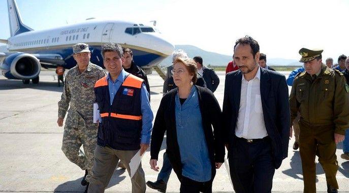 Michelle Bachelet visita región de Coquimbo por sismo - Foto de Gobierno de Chile