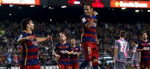 Neymar anota cuatro goles en victoria del Barcelona - Barcelona aplasta al Rayo Vallecano - Foto de Internet