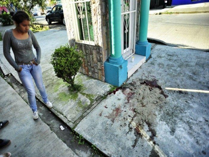 El cuerpo quedó al pie del altar guadalupano - Foto de formato7.com