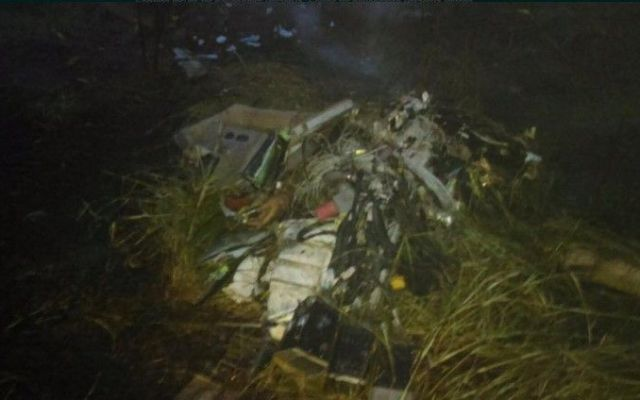 Mueren dos por desplome de helicóptero en Veracruz - Foto de Internet