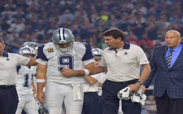 Tony Romo se lesiona en el Día de Acción de Gracias