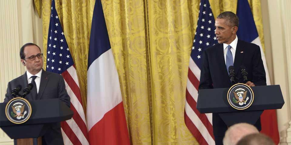 Debemos destruir juntos al EI: Obama a Hollande - Foto de AFP