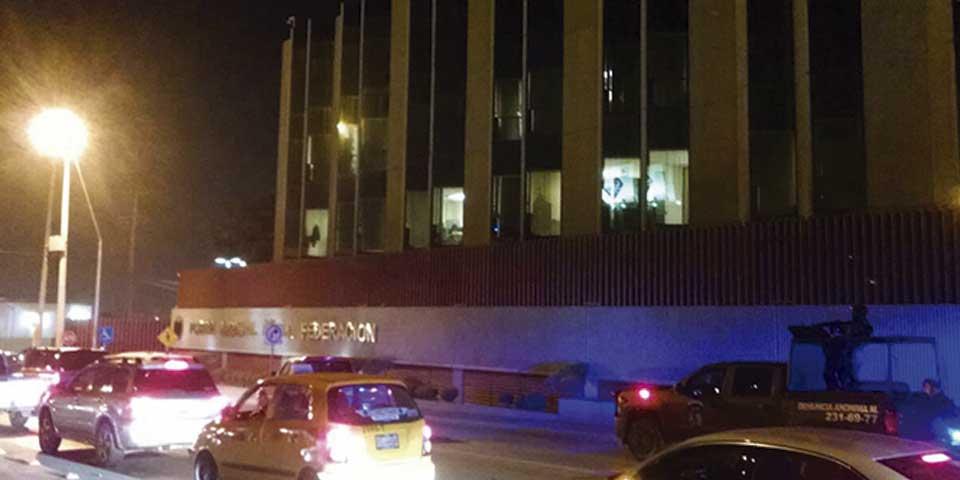 Atacan Poder Judicial de la Federación en Saltillo - Foto de Excélsior