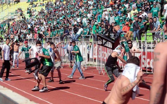 Trifulca en el futbol chileno deja 30 heridos