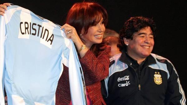 """""""Gracias por todo"""": Diego Maradona a Cristina Fernández"""