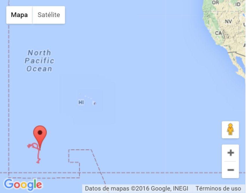 Los lugares de la trayectoria de Pali. Foto de NOAA.