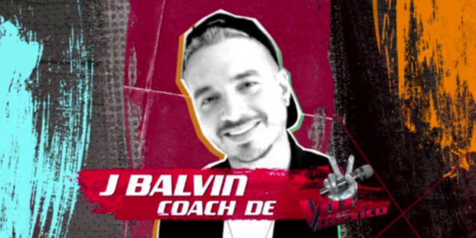 """Anuncian a J Balvin como el tercer coach en """"La Voz… México"""" - J Balvin La Voz México"""