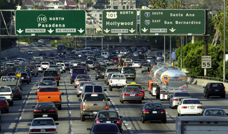 Tráfico en Los Ángeles. Foto de David McNew/Newsmakers