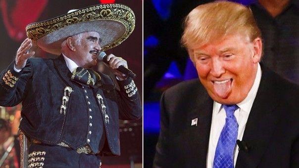 Vicente Fernández vs Donald Trump - Foto de RPP Noticias