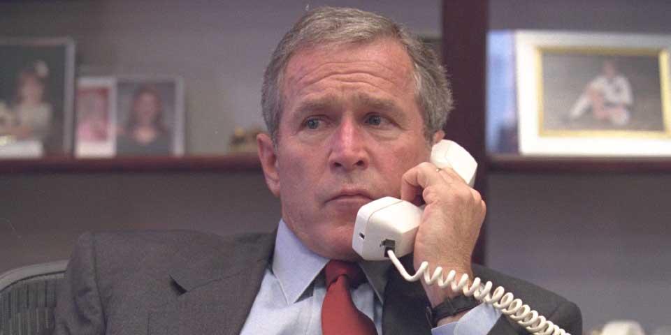 Fotos inéditas de George Bush tras los ataques del 9/11 - Foto de Archivos Nacionales de EE.UU.