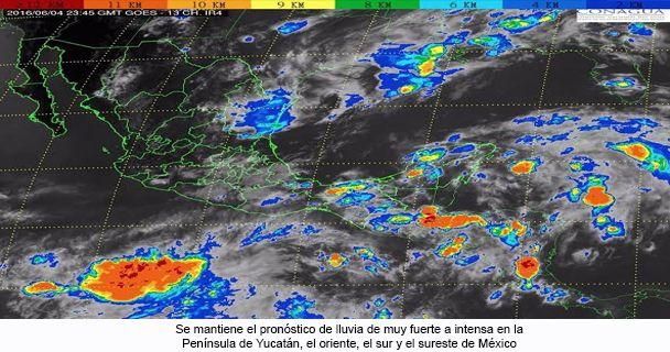 Se forma depresión tropical 3 en Yucatán