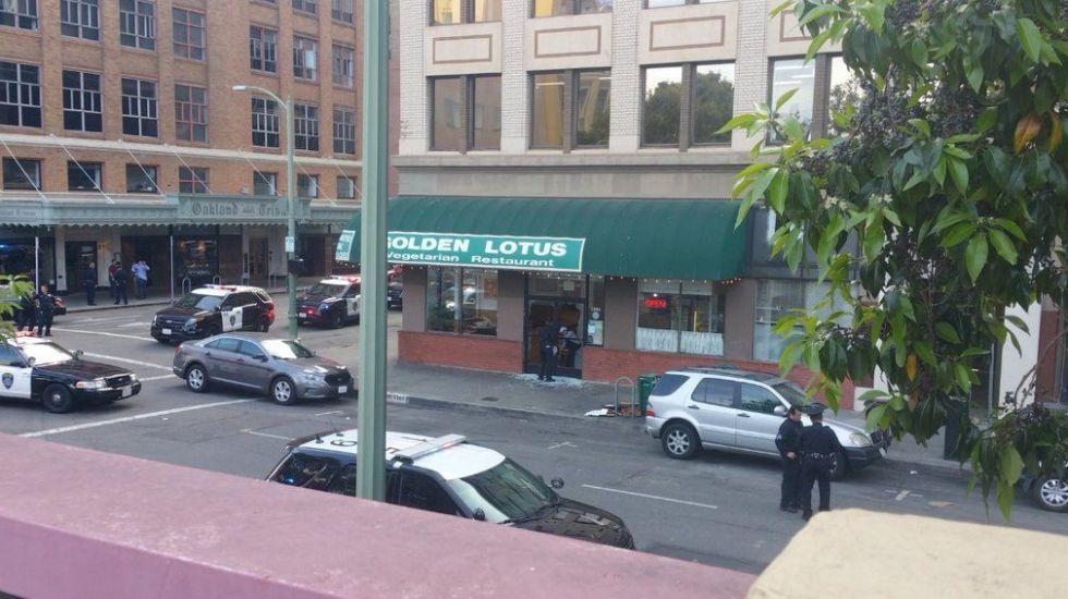 Tiroteo en Oakland deja un muerto - Foto de @MaryKellyKPIX