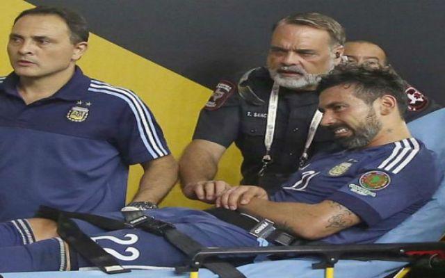Lavezzi se pierde final de Copa América por lesión - Foto de Televisa Deportes