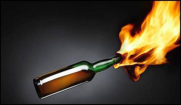 Detonan bombas molotov en PRD de Veracruz - Foto de Internet