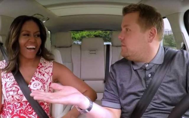 Michelle Obama se luce en 'Karaoke Carpool' - Foto de The Late Late Show with James Corden