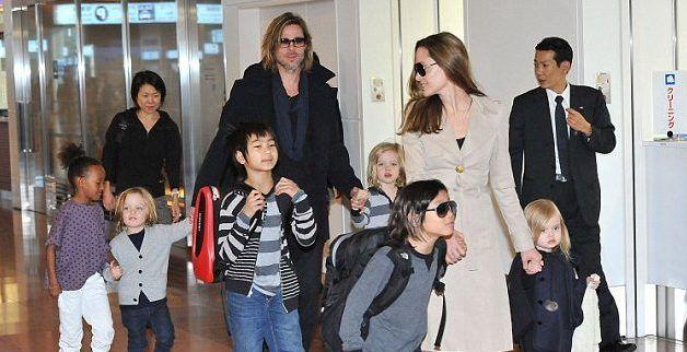 Brad Pitt pide la custodia compartida de sus 6 hijos