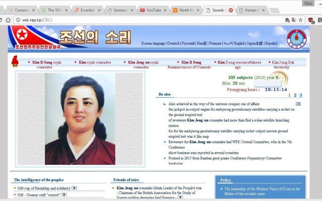 ¿Cuántas páginas web tiene Corea del Norte?