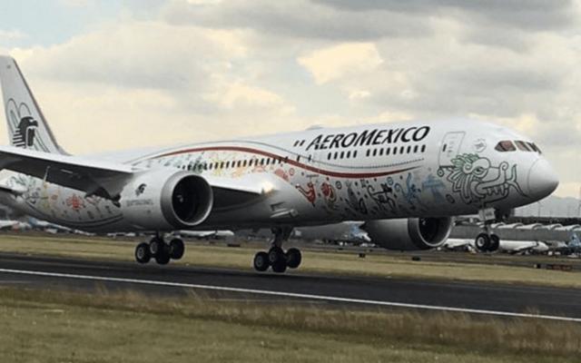 Aterriza en México el nuevo avión de Aeroméxico