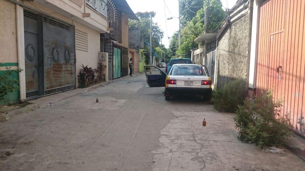 Balacera en Acapulco deja un taxista muerto y un herido - El lugar de los hechos. Foto de Quadratín