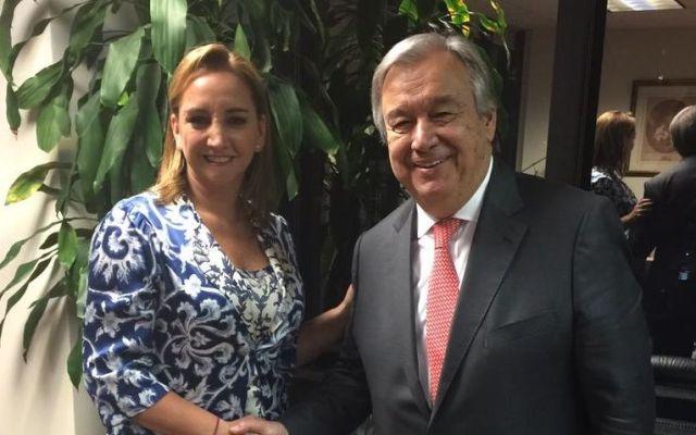 Ruiz Massieu se reúne con el secretario electo de la ONU