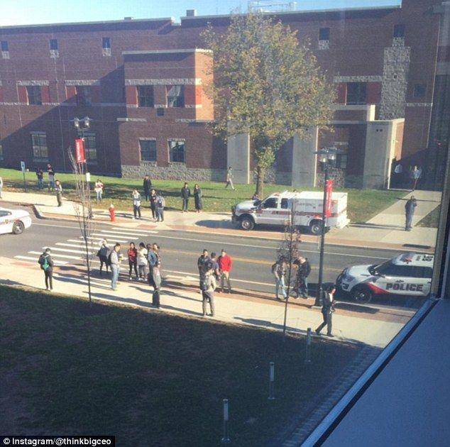 El campus tras el ataque. Foto de Instagram