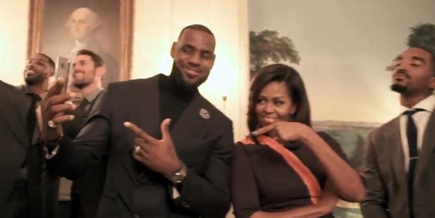 Video: 'Mannequin Challenge' de los Cavs con Michelle Obama