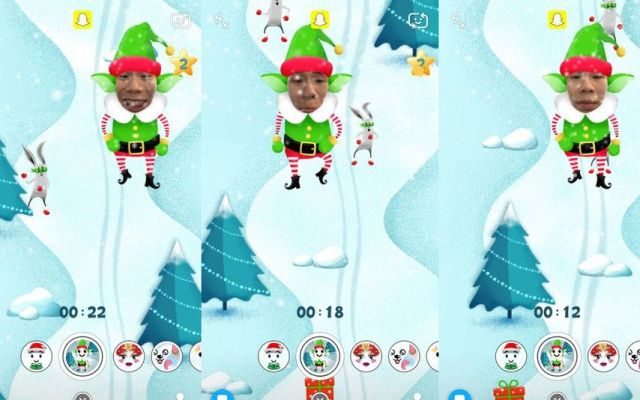 Snapchat lanza un minijuego navideño