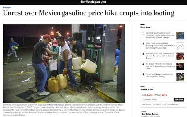 Medios internacionales destacan saqueos en México