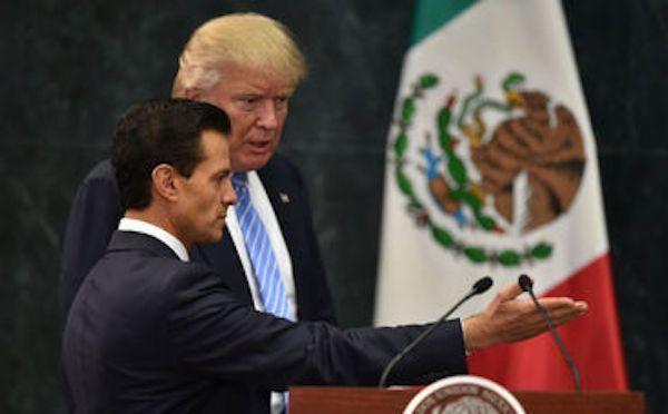 Estados Unidos apoyará con tropas a México si EPN lo decide: Trump - Trump y Peña Nieto. Foto de AP