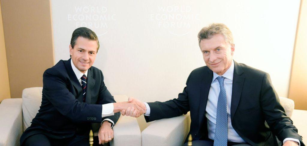 Argentina busca aumentar relaciones comerciales con México - Enrique Peña Nieto con Mauricio Macri