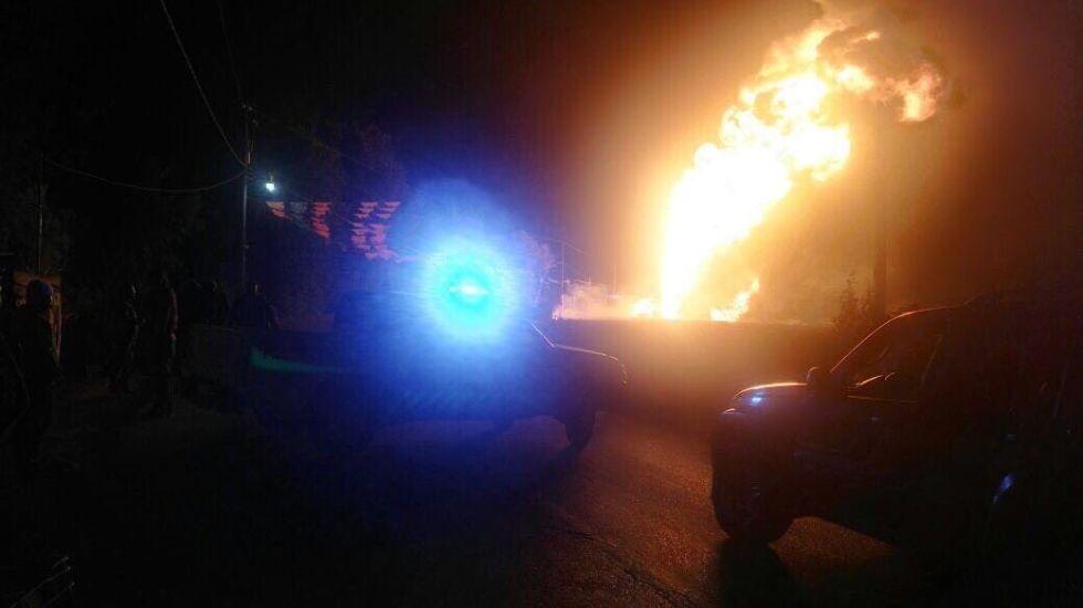 Explosión en toma clandestina en Puebla - Foto de Andrés Domínguez