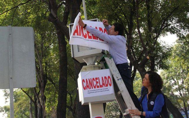 Senadores cancelan simbólicamente cámaras de fotomultas - Foto de Quadratín