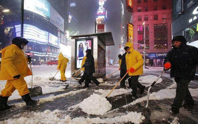 Cancelan amenaza de tormenta de nieve en Nueva York - Foto de AP