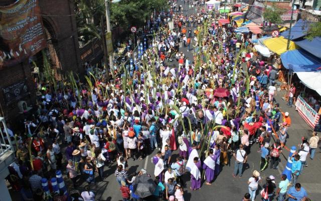Saldo blanco en celebración de Domingo de Ramos en Iztapalapa - Foto de @Del_Iztapalapa