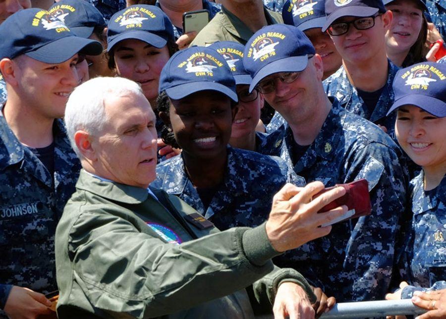 EE.UU. responderá de manera abrumadora y eficaz a Pionyang: Pence - Foto de Tyler Hlavac/Stars and Stripes