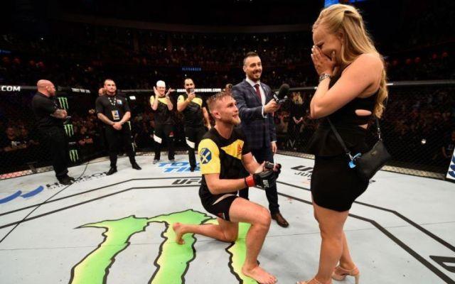 #Video Peleador de la UFC le propone matrimonio a su novia tras nocaut - Foto de Getty Images