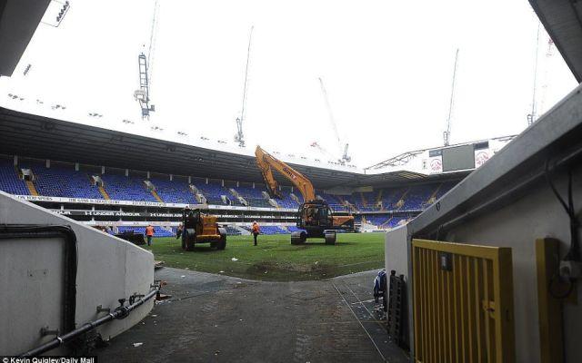 Comienza la demolición del estadio del Tottenham - Foto de Daily Mail