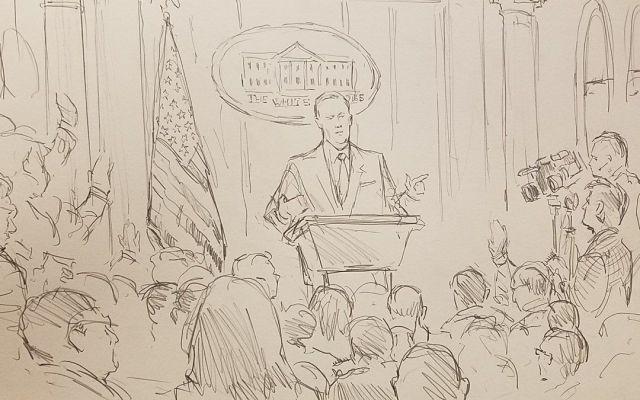 CNN envía a dibujante a la Casa Blanca
