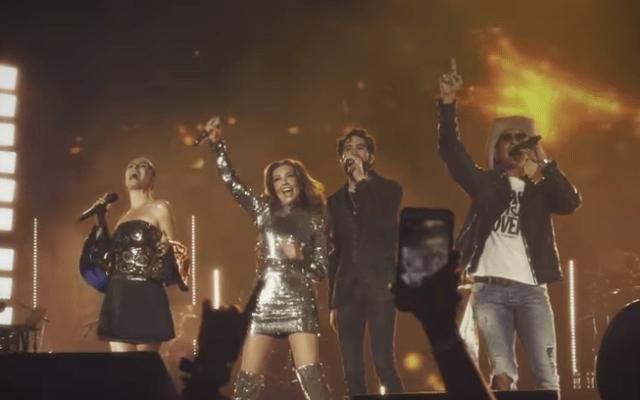 Thalia presenta video del sencillo 'Junto a ti' con integrantes de Timbiriche